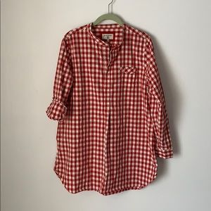 HERITAGE 1981 Adorable Red Check Tunic